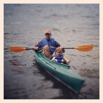 paddling with daddy